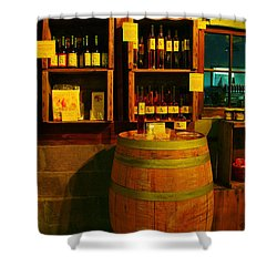 A Barrel And Wine Shower Curtain by Jeff Swan