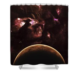 A Barren World Passes In Front Shower Curtain by Kevin Lafin