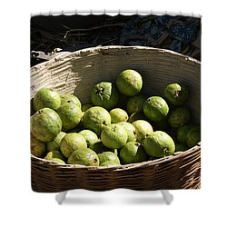 A Basket Full Of Guavas Just Outside Bhopal Shower Curtain by Ashish Agarwal
