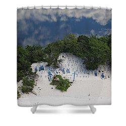 A Beach Cemetery Beside The Rio Negro Shower Curtain by Bobby Haas