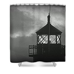 A Beacon In The Night Shower Curtain by Kay Novy