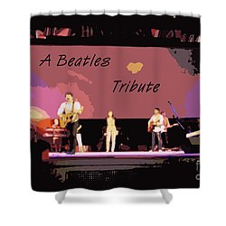 A Beatles Tribute Shower Curtain by Renee Trenholm