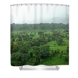 A Beautiful Green Countryside Shower Curtain