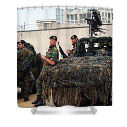 A Belgian Recce Or Scout Team Shower Curtain by Luc De Jaeger