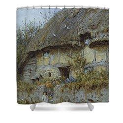 A Berkshire Cottage  Shower Curtain by Helen Allingham