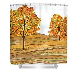A Bit Of Fall Shower Curtain