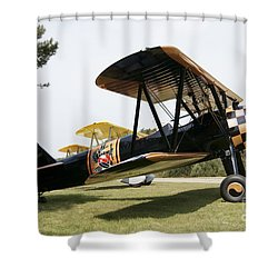 A Boeing Stearman N2s-3 Model Biplane Shower Curtain by Ramon Van Opdorp