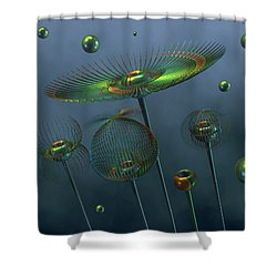 A Brief Spring On Rigel Vii Shower Curtain