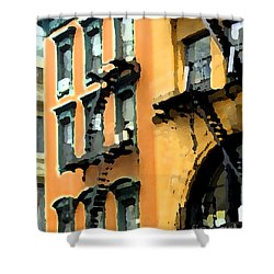 A Building 2 Shower Curtain