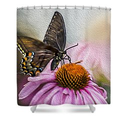 A Butterfly's Magical Moment Shower Curtain