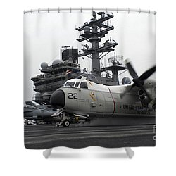 A C-2a Greyhound Launches Shower Curtain by Stocktrek Images