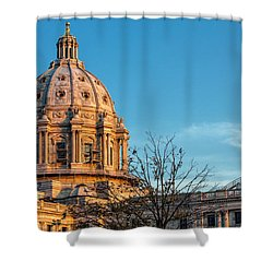 Shower Curtain featuring the photograph A Capitol Evening by Tom Gort