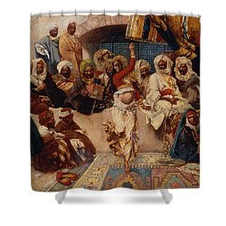 A Captive Audience Shower Curtain by Charles Auguste Loye