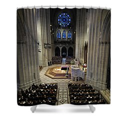 A Casket Lies In Place Shower Curtain by Stocktrek Images