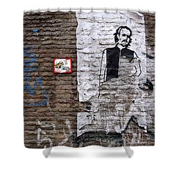 A Character On The Wall Shower Curtain by RicardMN Photography