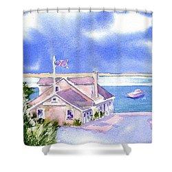 A Chatham Fish Market Shower Curtain by Joseph Gallant