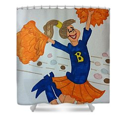 A Cheerful Cheerleader Shower Curtain