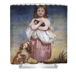 A Child Shower Curtain by James Northcore