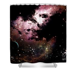A Cluster Of Bright Young Stars Tear Shower Curtain by Brian Christensen