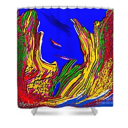 A Coastal View Shower Curtain by Nedunseralathan R