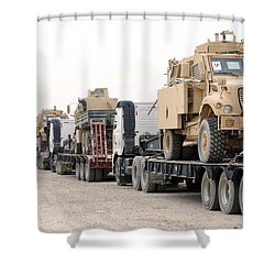 A Convoy Of Mine-resistant Ambush Shower Curtain by Stocktrek Images