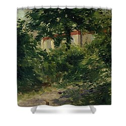 A Corner Of The Garden In Rueil Shower Curtain by Edouard Manet
