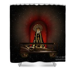 A Cosmic Drama Shower Curtain