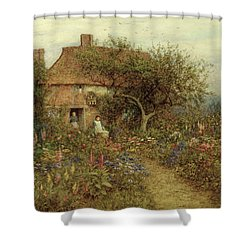 A Cottage Near Brook Witley Surrey Shower Curtain by Helen Allingham