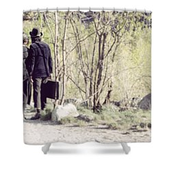 A Couple In The Woods Shower Curtain by Joana Kruse