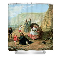 A Day At The Seaside Shower Curtain by William Scott