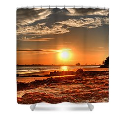 A Day Ends Over Charleston Shower Curtain