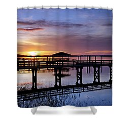 A December Sky Shower Curtain by Phill Doherty