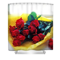 A Dozen Red Roses Shower Curtain by Garry Gay