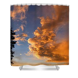 A Dramatic Summer Evening 1 Shower Curtain by Will Borden