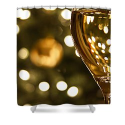 A Drink By The Tree Shower Curtain