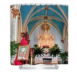 A Farewell To Pope John Paul II Shower Curtain by Kristin Elmquist