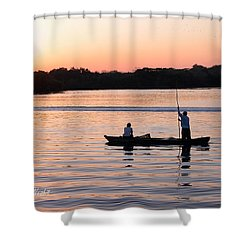 A Fisherman's Story Shower Curtain