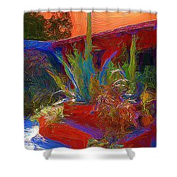 Shower Curtain featuring the photograph A Garden In Pozos by John  Kolenberg