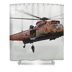A German Ws-1 Sea King Shower Curtain by Timm Ziegenthaler