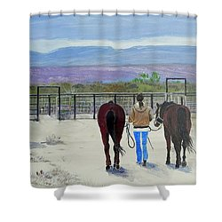 Texas - A Good Ride Shower Curtain