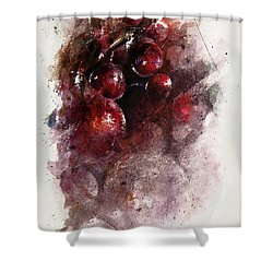 A Grape Mystery Shower Curtain by Rachel Christine Nowicki