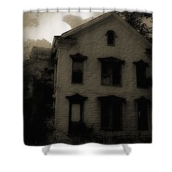 A Haunting Shower Curtain by DigiArt Diaries by Vicky B Fuller