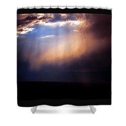 A Higher Violet Shower Curtain by Susanne Still