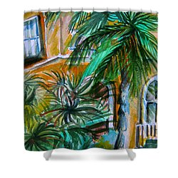 A Hotel In Sorrento Italy Shower Curtain by Mindy Newman