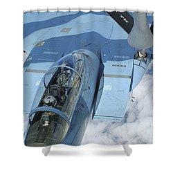 A Kc-135 Stratotanker Provides Shower Curtain by Stocktrek Images