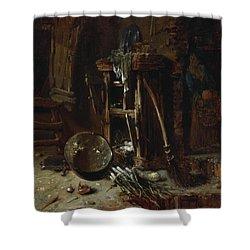 A Kitchen Corner Shower Curtain by Willem Kalf