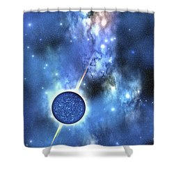 A Large Star With Concentrated Matter Shower Curtain by Corey Ford