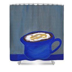 A Little Blue Shower Curtain
