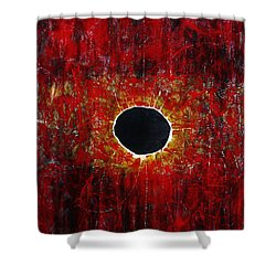 Shower Curtain featuring the painting A Long Time Coming by Michael Cross
