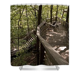 Shower Curtain featuring the photograph A Long Way Down by Jeannette Hunt